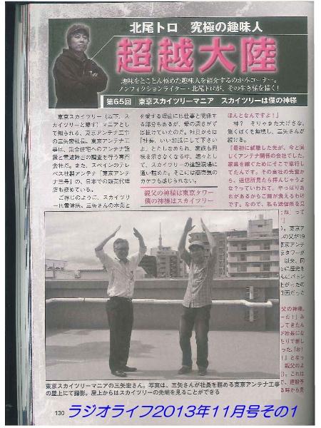 ラジオライフ2013年11月号に掲載